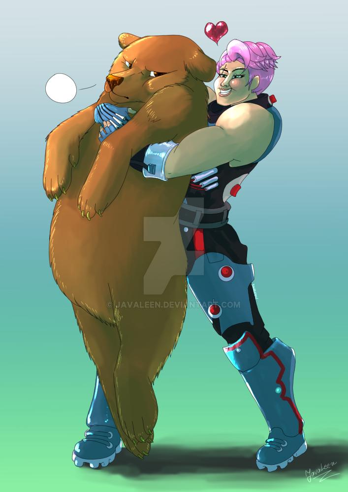 Big and fluffy hug by JavaLeen