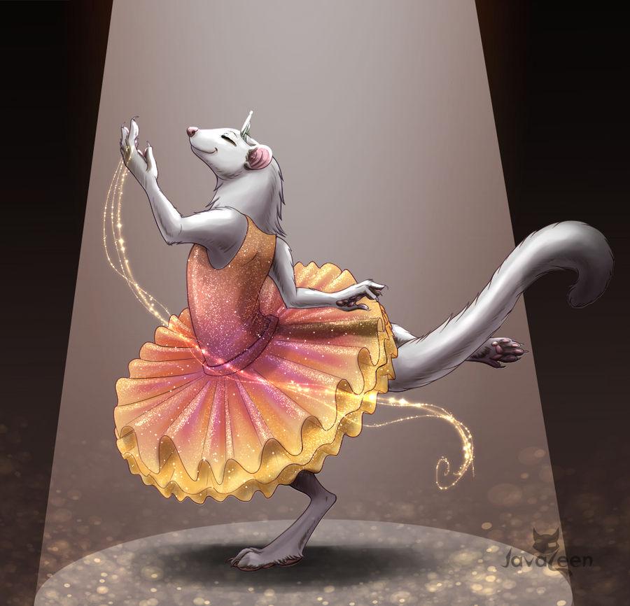 Dancing Furret by JavaLeen