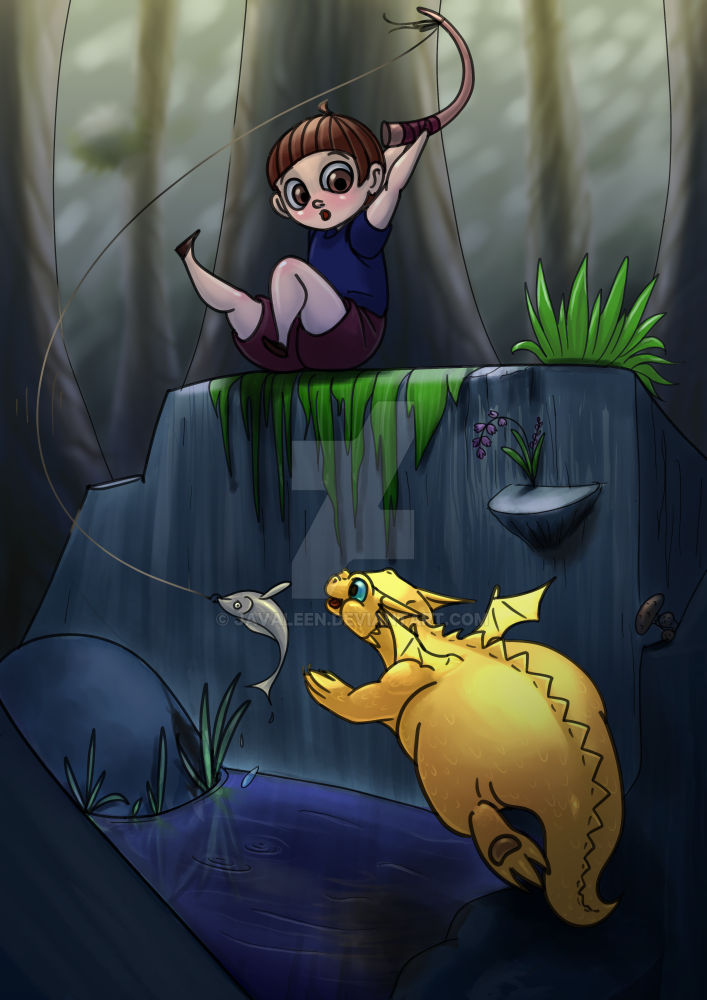 Catch of the day by JavaLeen