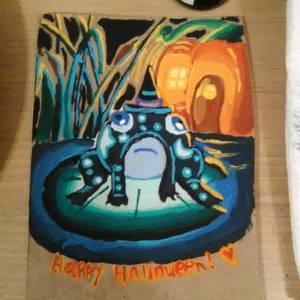Frog Glow - Halloween Card #2