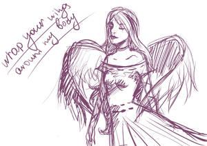 Piwy angel sketch