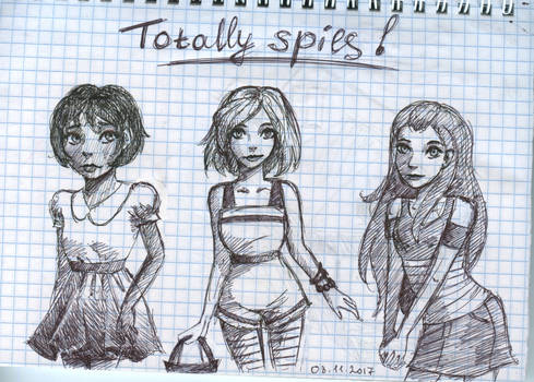 girls from Totally spies