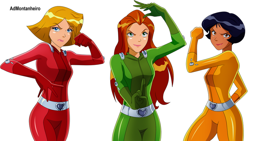 Commission clover sam and alex by admontanheiro on deviantart - Deguisement totally spies adulte ...