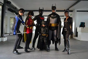 Bat Family by littleharleyquinn