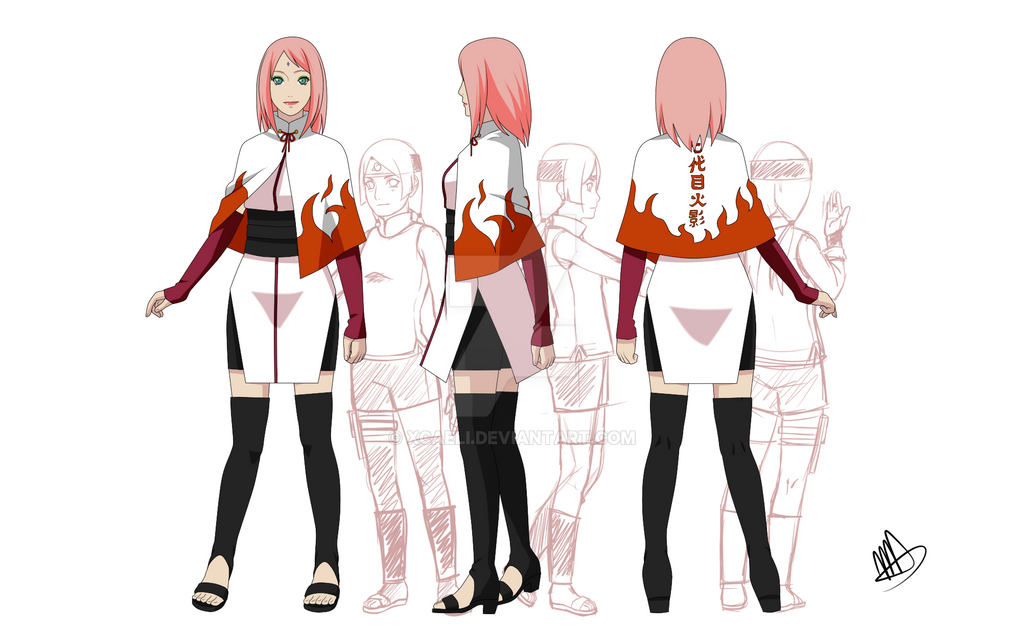 Hokage Sakura By Xcaeli On Deviantart