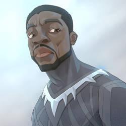 Black Panther as Cartoon Figure
