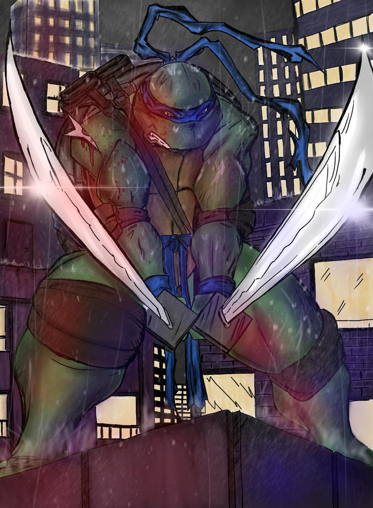 TMNT LEONARDO COLOURING by Robrkid