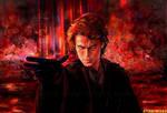 the dark Anakin o:n Mustafar