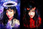 traditional art good vs evil