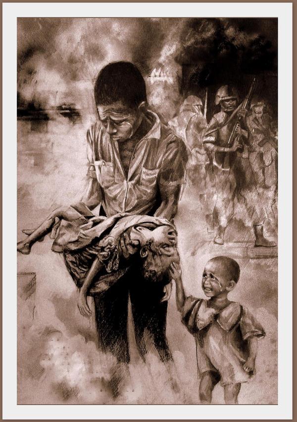 War kills our children 2 by LilDevilAriel