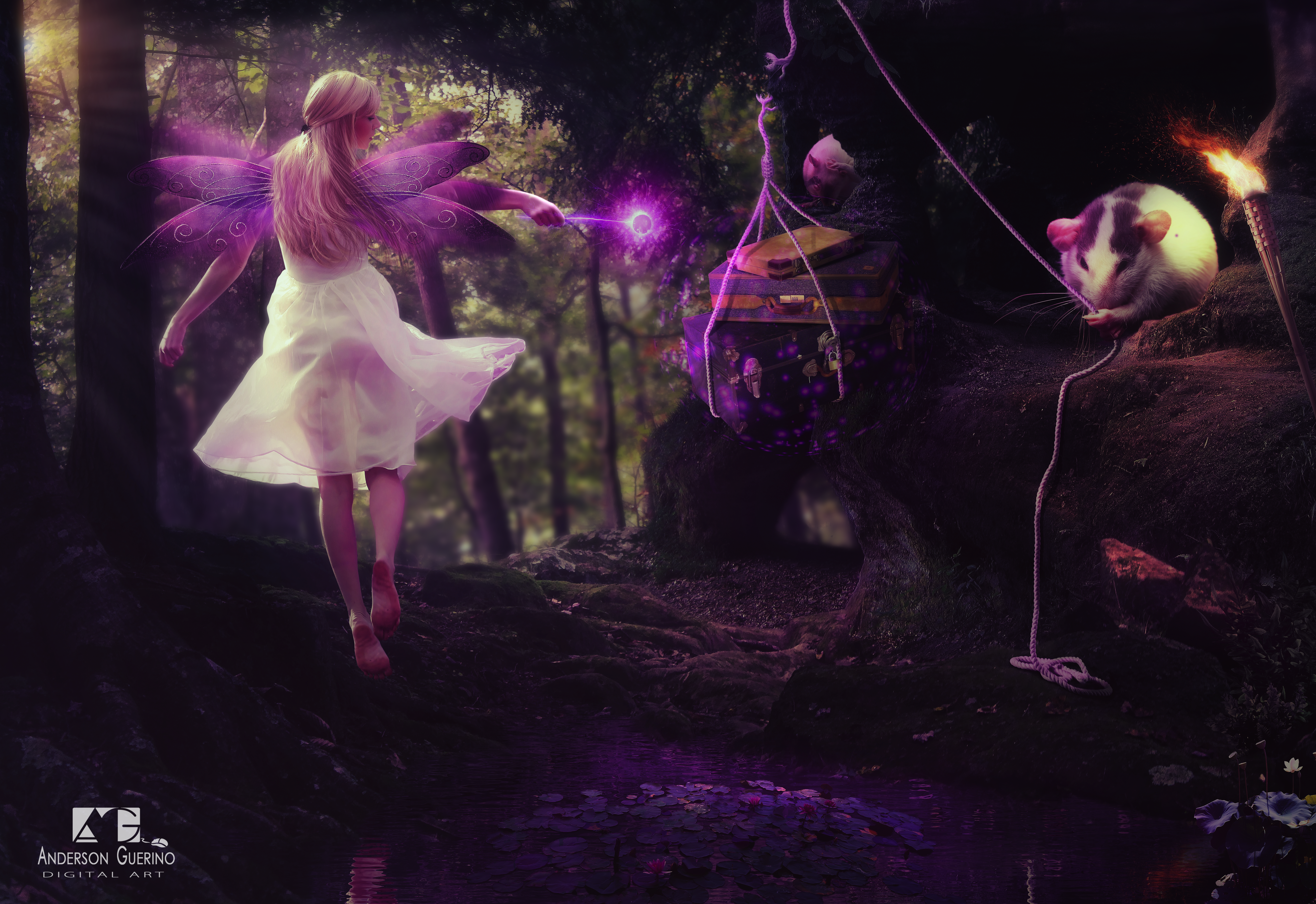 Fairy and the rat by andersonguerino