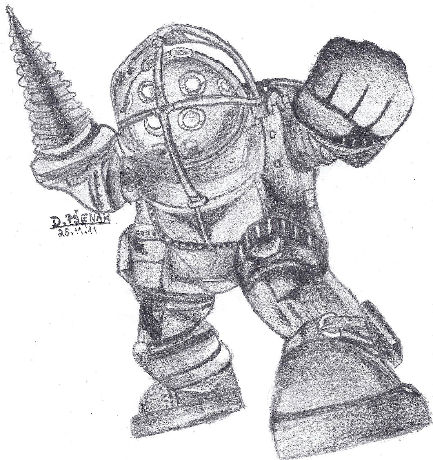 Bioshock Big Daddy By Manthysk On Deviantart
