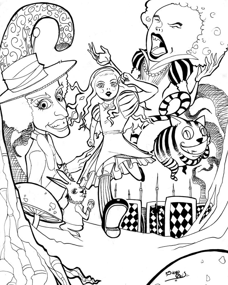 Alice In Wonderland 2011 Drawing