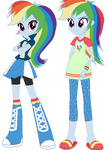 Rainbow Dash Human (My Version)