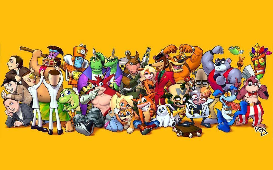 Crash Bandicoot Characters Wallpaper