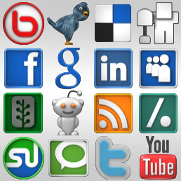 Social Icons Front View by ray-bot