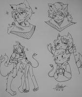 (OC) Axel Doodles by Cosmic-Oracle