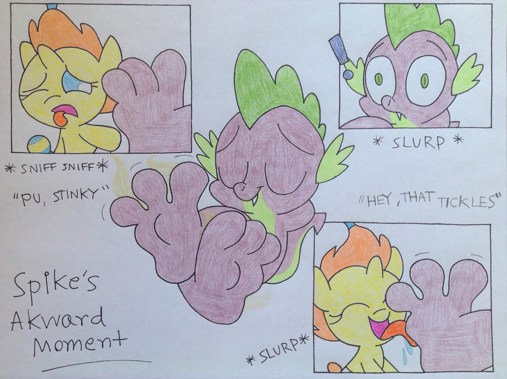 Darienspeyer Feet: Spike's Awkward Moment (Valentine's Day Special) By