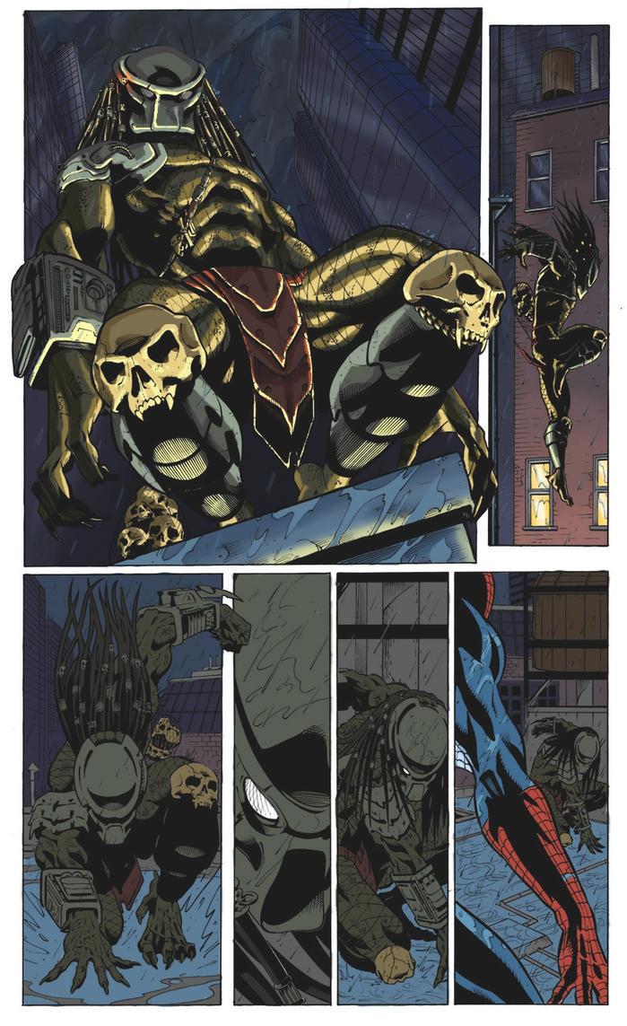 Spiderman vs Predator by Kiara-kitsu on DeviantArt