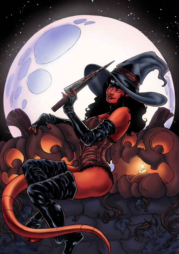 Hallow's End Witch by Kiara-kitsu