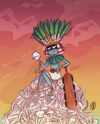 Huitzilopochtli by akanague