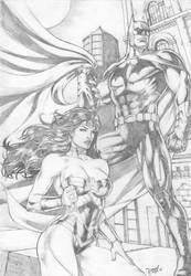 Wonder Woman and Batman by DLimaArt
