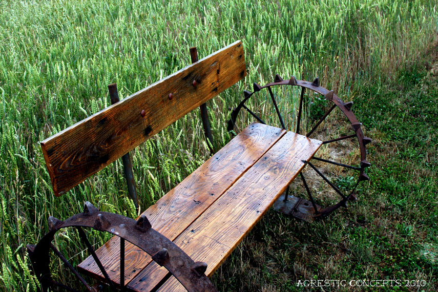 bench wheel steel pin antique wagon country custom rustic home ideas