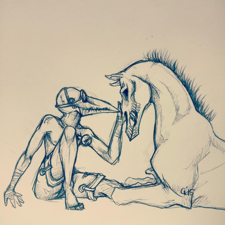 Friends for Death by HyruleUnicorn
