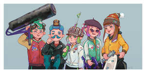 Splatoon fam portrait