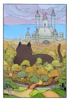 Laser pointer forest castle