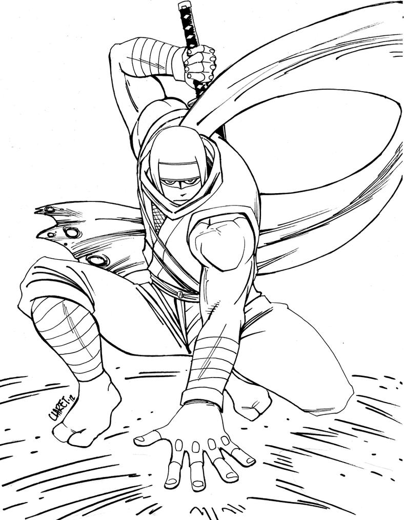 Ryu hayabusa bw by claret821021 on deviantart for Ryu coloring pages