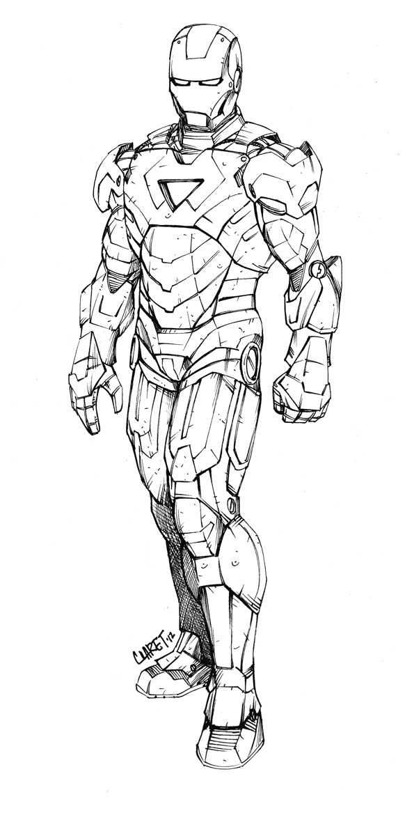 Line Art Man : Iron man line art by claret on deviantart