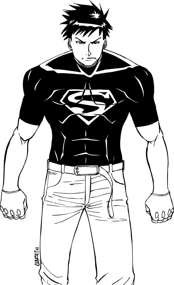 Superboy Young Justice Ver By Claret821021 On Deviantart Superboy Coloring Pages