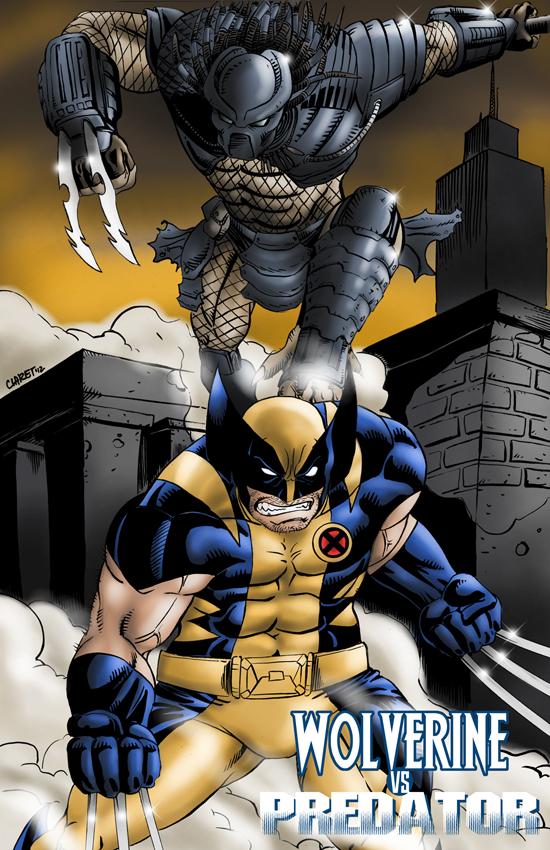 Wolverine vs Predator Color by Claret821021