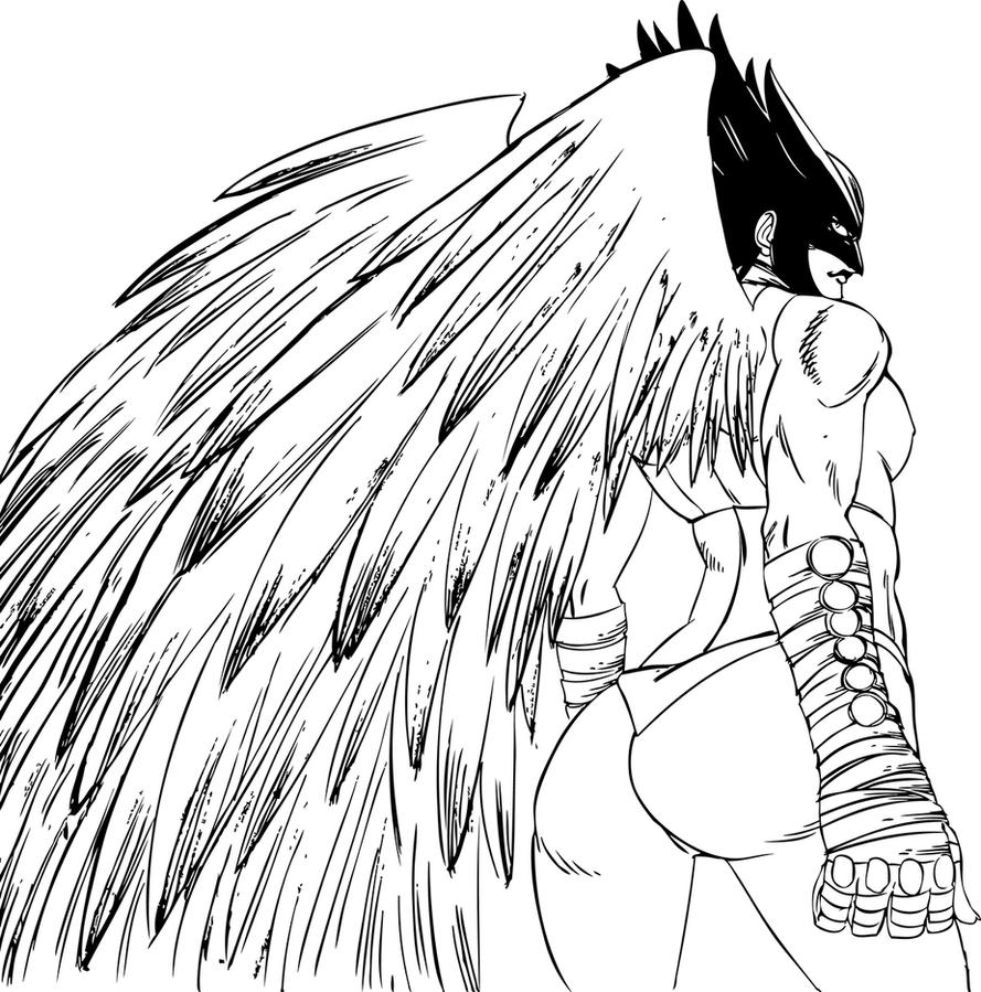 Hawkgirl Lineart By Claret821021 On DeviantArt