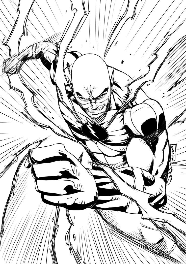The Flash Line Art : Reverse flash by claret on deviantart