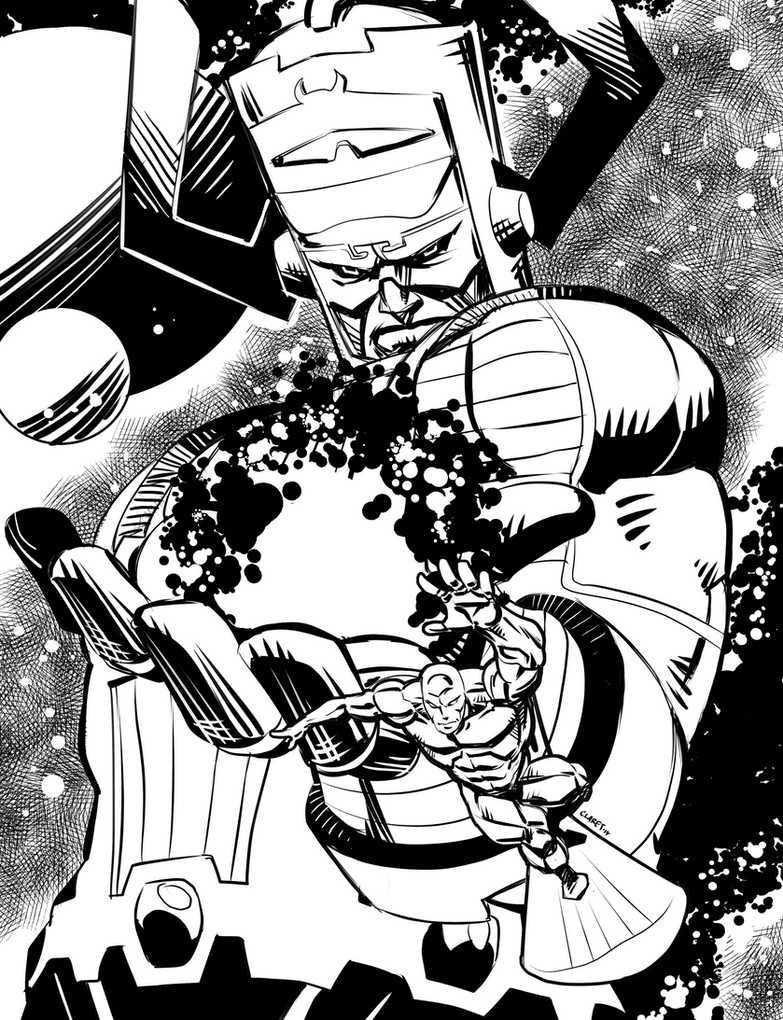 Galactus and Silver Surfer by Claret821021