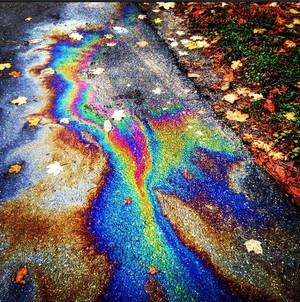 Beautiful Gas Spill