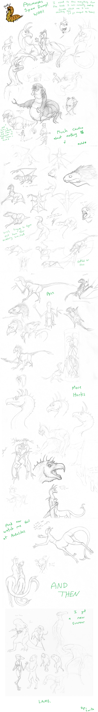 Animorphs Doodle Dump by SaritaWolff