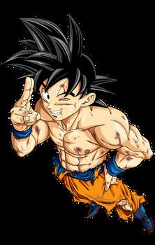Son Goku Damaged Render
