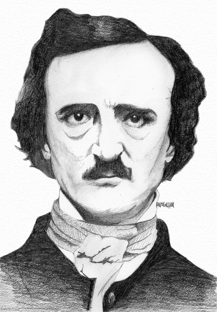 Edgar Allan Poe by laurahutton