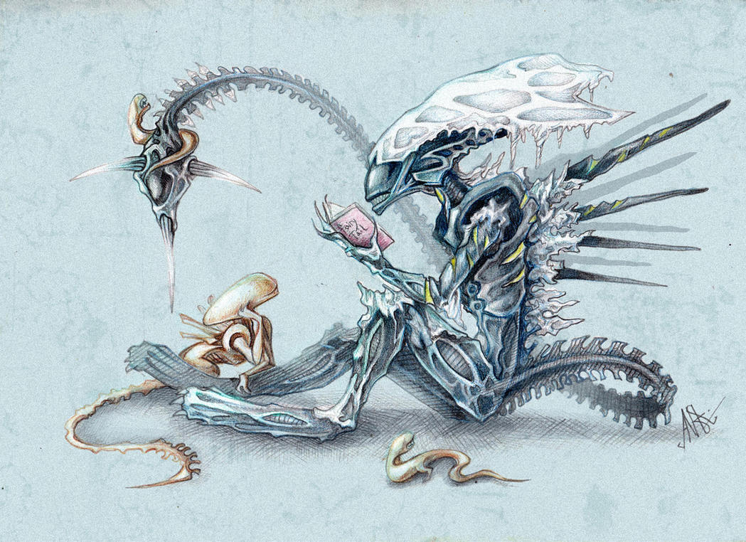 Pictures of Alien Queen Drawing - #rock-cafe