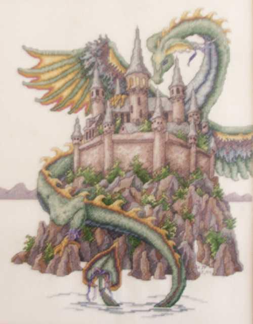 The Castle Cross-stitch by littlemojo