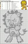 Cross stitch pattern: Kon