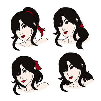 [RWBY] Merle Hairstyles by CommandersKeeper