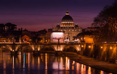 Ponte Sant Angelo and St. Peter's Basilica