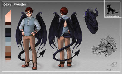 [Commission] Oliver Woolley Character Ref by MasterDaye