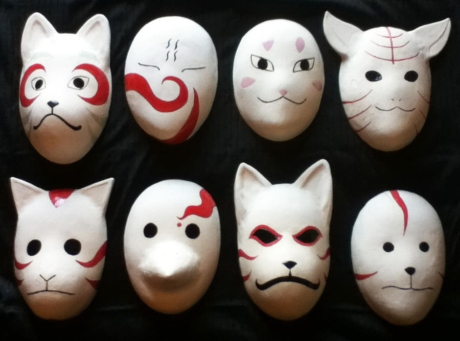 Ceramic Anbu Masks by BirdieLady on DeviantArt