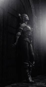 Woman in Dark Shelter