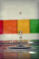 rainbow droplet